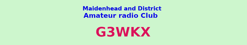 Maidenhead and District Amateur Radio Club banner
